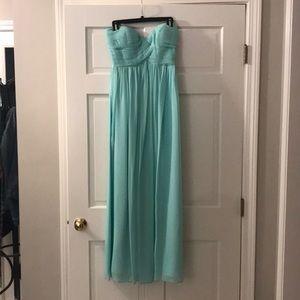 Sea foam green gown